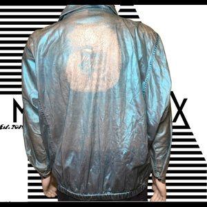 Vintage poodle glittery metallic Rare jacket
